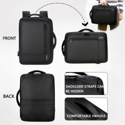 "Anti-theft waterproof travel backpack - 15.6"" inch Laptop bag with USB charging"