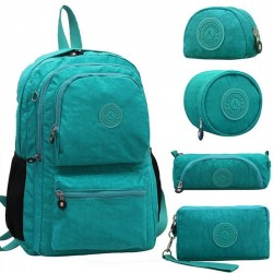 Waterproof nylon backpack 5 pcs set
