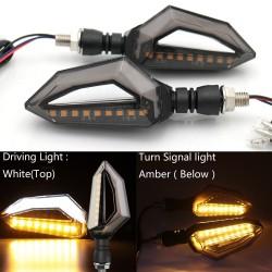 12 LED - Clignotants moto universels pour Harley Cruiser Honda Kawasaki BMW Yamaha 2 pcs