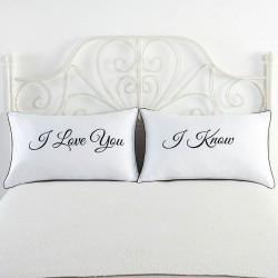 Mr & Mrs pillow case for couples 48 * 74cm 2 pcs