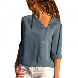 Elegant chiffon blouse with long sleeve