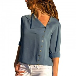 Elegant chiffon blouse with long sleeve