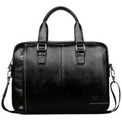 Elegant big leather shoulder bag