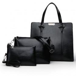 Elegant leather bags - 3 pcs set