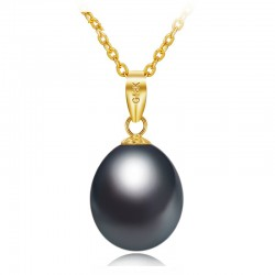 Luxury gold necklace with pearl 45cm
