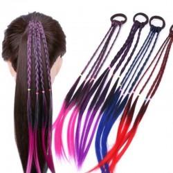 Élastique à cheveux avec cheveux artificiels tressés