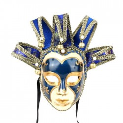 Vintage Jolly Joker - Venetian full face mask for masquerade & halloween