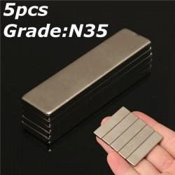 N35 strong neodymium magnet 40 * 10 * 3mm - block 5pcs
