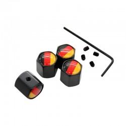 4 picesensemble allemagne drapeau Logo Anti-vol Valve bouchons noir roue pneu tige Air casquettes