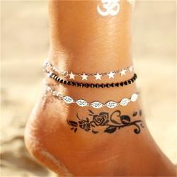 17 KM multiples bracelets de Cheville Vintage pour femmes bohme Cheville Bracelet 2019 Cheville pie