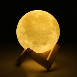 3D moon light - rechargeable lamp