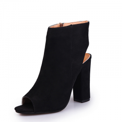 Casual stylish suede sandals boots with open toe & heel