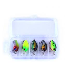 Appâts artificiels poissons leurre kit avec crochet 42g 5 pcs