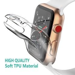 Volle Fall fr Apple Uhr 4 3 2 1 40 MM 44 MM Schutzhlle TPU HD Klar Ultra-Dnne abdeckung Screen Pr