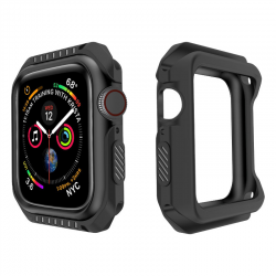 Étui en silicone et blindage rigide pour Apple Watch 1-2-3-4-5