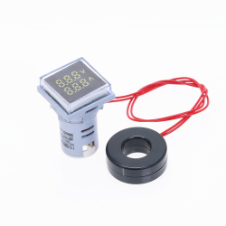Nieuwe Vierkante LED Digitale Dual Display Voltmeter Amperemeter Voltage Gauge Current Meter Meting