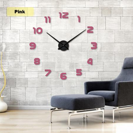 3D wall clock - acrylic mirror sticker