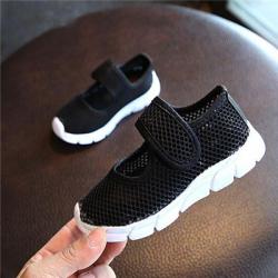Couleur bonbon enfants chaussures t respirant maille enfants chaussures unique Net tissu sport bas