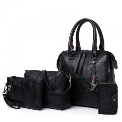 Women composite bag luxury leather purse and handbags 4pcs set