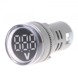 22mm LED affichage numrique jauge volts tension compteur indicateur lampe de Signal voltmtre lumi