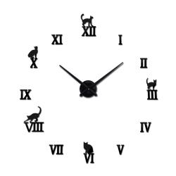 Horloge à mur adhesif 3D avec animaux