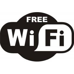 1 stks Zwart GRATIS WiFi VINYL Sticker Teken Window Cafe Restaurant Bar Pub Shop Internet Winkel Gla