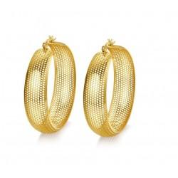 Vnox Grote Hoepel Oorbel voor Vrouwen Hollow Gold kleuren Roestvrijstalen Niet Allergie