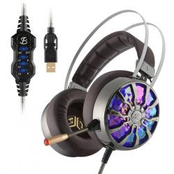 NiUB5 PC65 gloeiende gaming-headset - 3D USB 7.1 PS4-hoofdtelefoon met ruisonderdrukking