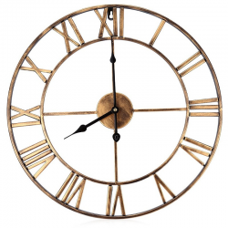 18.5 inch roman numerals iron decorative wall clock