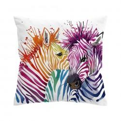 Kleurrijke safari-zebra's - kussenhoes