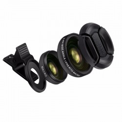 TURATA 045X grand Angle 125X Macro objectif professionnel HD tlphone camra objectif pour iPho