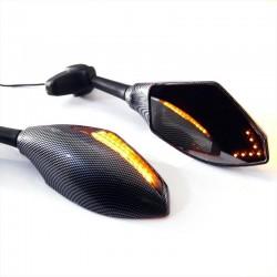 Rtroviseurs intgrs de clignotant de LED avant arrire de moto pour HONDA CBR 600RR 1000RR F3 F4 Y