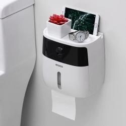 Dispenseur de papier toilette impermèable multifonction avec tiroir