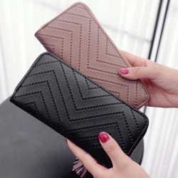 Portefeuille Long femmes sacs main gland mode porte-monnaie porte-carte portefeuilles femme haute
