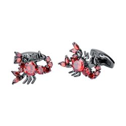 SAVOYSHI nouveaut Scorpion boutons de manchette pour hommes chemise poignets de haute qualit rouge