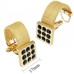 Boutons de manchette d'or avec onyx de luxe