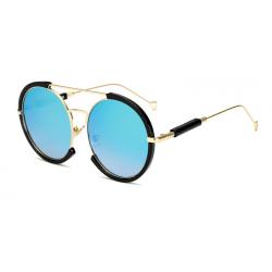 LongKeeper lunettes de soleil ovales hommes femmes Steampunk lunettes double faisceau Vintage mtal