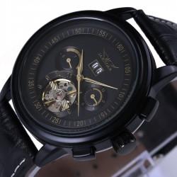 Montre de luxe JARAGAR en cuir Tourbillon montre automatique hommes montre-bracelet hommes montres m