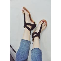 Summer woman diamond zipper sandals