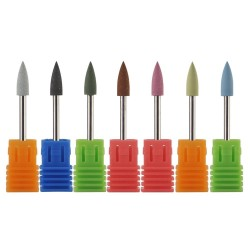 Silicone bullet head nail drill for manicure & pedicure