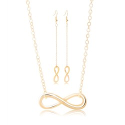 Lucky 8 - earrings & necklace - jewellery set