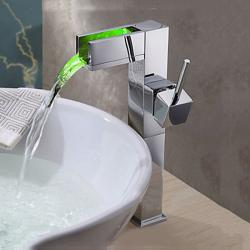 Bathroom chrome finish waterfall