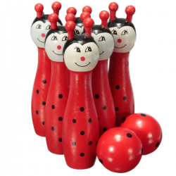 Wooden bowling ball - toys - kids and children