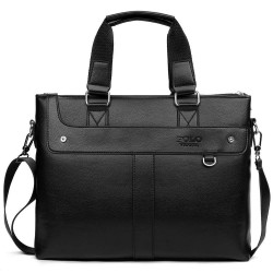 Classic leather wide bag