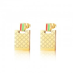 Luxury gold stainless steel earrings