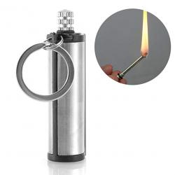 Metal flint match lighter - camping - emergency fire starter - 1500 times