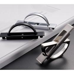 Hidden furniture handle with screws - stainless steel