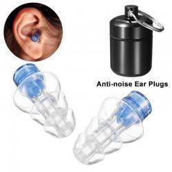 Bouchons d'oreilles anti-bruit - réutilisables - avec boîte - protection auditive - bouchons
