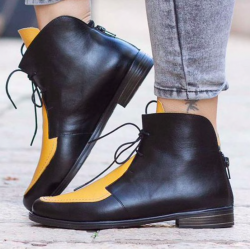Fashion ankle boots with a back zipper
