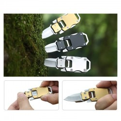 Folding pocket mini knife stainless steel with sheath
